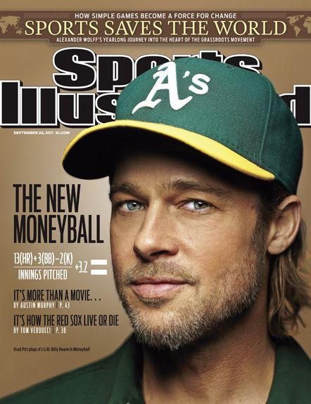 On the Cover: Brad Pitt, Baseball,  Photographed by: Simon Bruty / SI