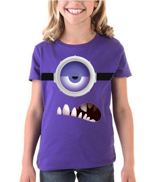 Playera o Blusa Purple Minion Ropa, Camisetas, Minion