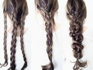 Messy braid tutorial for long hair