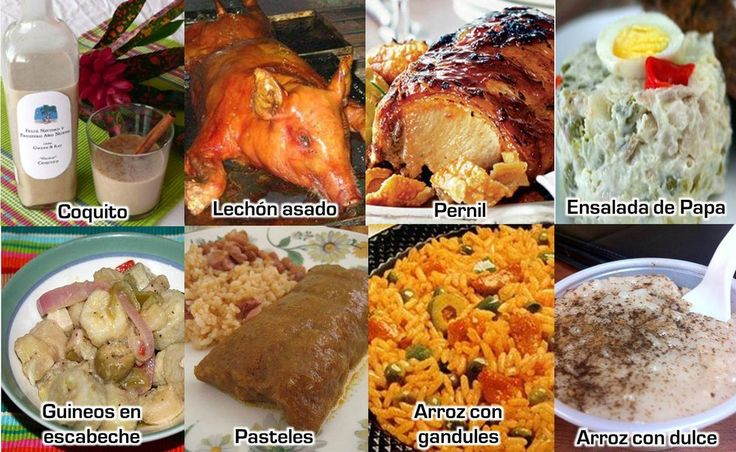 Puerto Rican Traditional food cooked por Navidad. -ahhhh I miss all of it.
