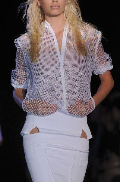 white on white | net jacket