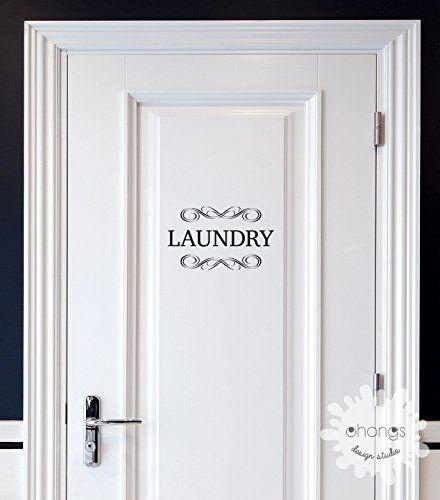Laundry Decal / Door Decal / Pantry Door Decal / Restroom Decal / Office Sticker / Door Letters Decal / Custom Letter Decal