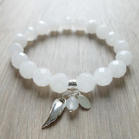 Essence Bracelets- Healing Inspired Jewelry. Bracelet of Angel. Handmade with love from our healing practitioners. Natural gemstones. Sterling Silver. Healing energy bracelet. For our full collection, visit us at http://www.essencebracelets.com/shop/