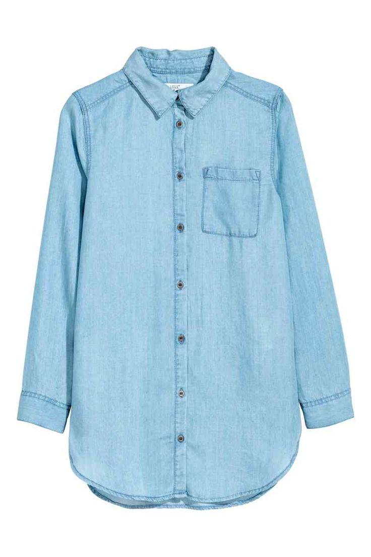 Džínová košile z lyocellu | H&M