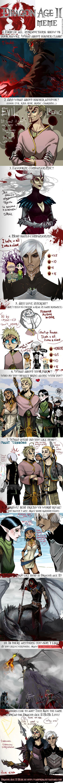 "Dragon Age II Meme by NanoeTetsu.deviantart.com on @deviantART ""Why me?' ""Because I want you to suffer"" LOLOLOLOLOL"