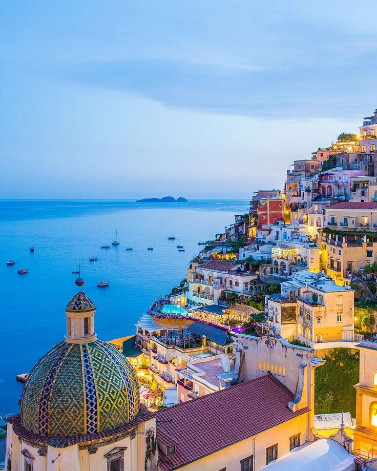 Land of Mermaids. Land of Orange and Lemon Groves. Land of Colors Sorrento #Italy has earned all kinds of alluring names. Famed for its sea cliffs Sorrentos steep slopes look out over azure waters and the city offers great diving sea fishing and boat cruises.
