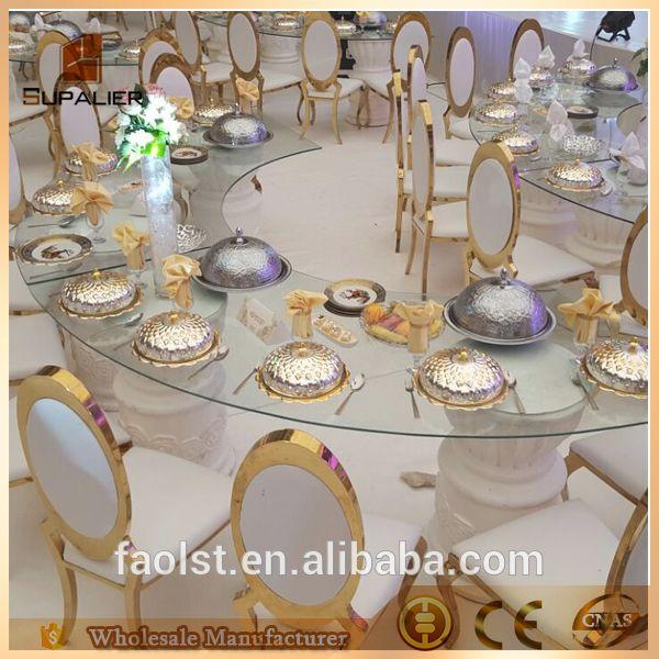 Promozione prezzo basso wedding sedia in acciaio inox con ovale indietro