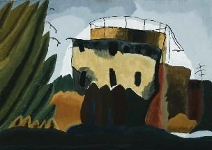"Arthur Dove. ""Tanks,"" 1938. Oil over emulsion."