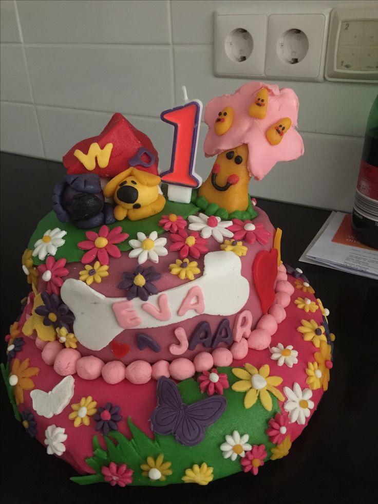 Taart voor verjaardag van mijn nichtje Eva, 1 jaar Zelfgemaakt
