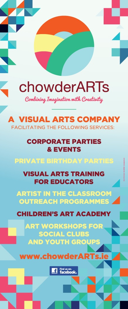 Roll Up Banner for chowderARTs, Waterford