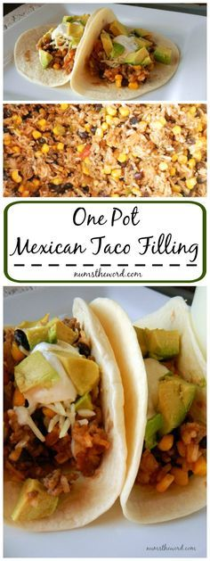 One Pot Mexican Taco Filling - This one pot, 30 minute meal is so easy to put together and filling! It makes GREAT leftovers and is perfect for a week night meal or when feeding guests!