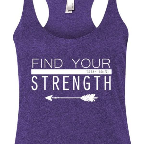 Find Your Strength Isiah 40:31 | Breathable Racerback Tank Top - Next Level Tri-Blend Christian Shirt