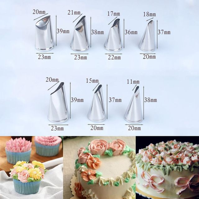 Russian Icing Piping Ice Cream Tips Nozzles Pastry Cupcake Decor Cake Tools