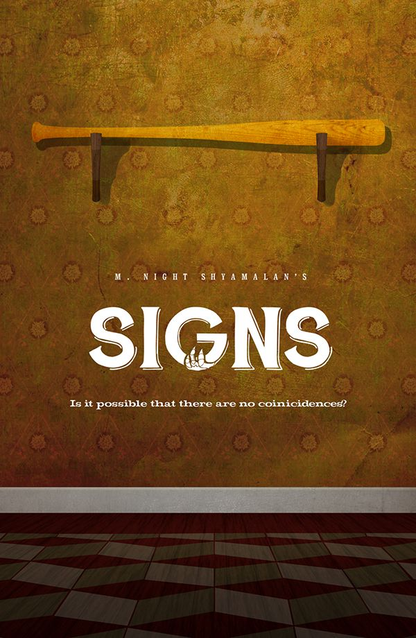 Signs (2002) ~ Minimal Movie Poster by Warren Cathro #amusementphile