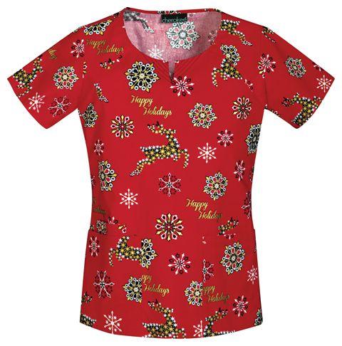 8 best Christmas Scrubs images on Pinterest | Scrub tops ...