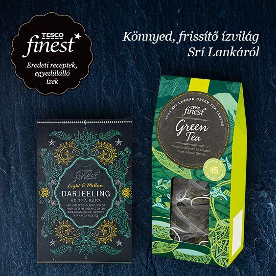 Frissítsd fel magad a Tesco finest* prémium minőségű, egyedülálló ízvilágú teáival! #TescoMagyarország #Finest #tea
