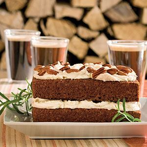 Gingerbread Cake with Stout Buttercream   The bold flavor of a stout complements the spices in the German-inspired gingerbread cake.Christmas Desserts, Cake Recipe, Southern Living, Cake Mixed, Eating Cake, Layered Cake, Christmas Cake, Gingerbread Cake, Stout Buttercream