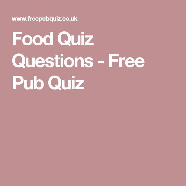 Food Quiz Questions - Free Pub Quiz