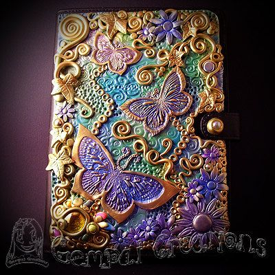 Butterfly Polymer Journal Custom made Note book by GempaiCreations