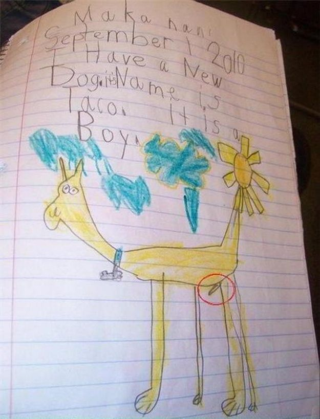 Well, it's accurate. | 20 Bizarre Pictures Drawn By Little Kids