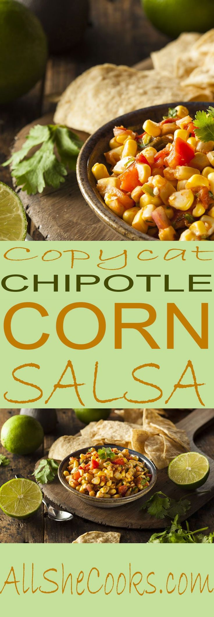 Copycat Chipotle Corn Salsa is a festive recipe perfect to serve with chips or alongside your favorite Mexican recipe. Healthy corn salsa is a great way to get in your vegetables.
