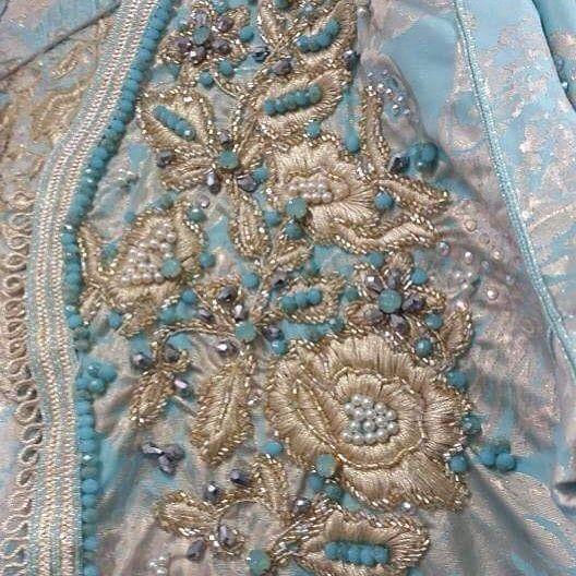 #caftan #embroidery #perlage #marocaine