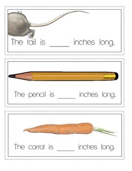 FREE! Get this GREAT (inches) measurement activity with writing.  9 pgs. Ruler incl.