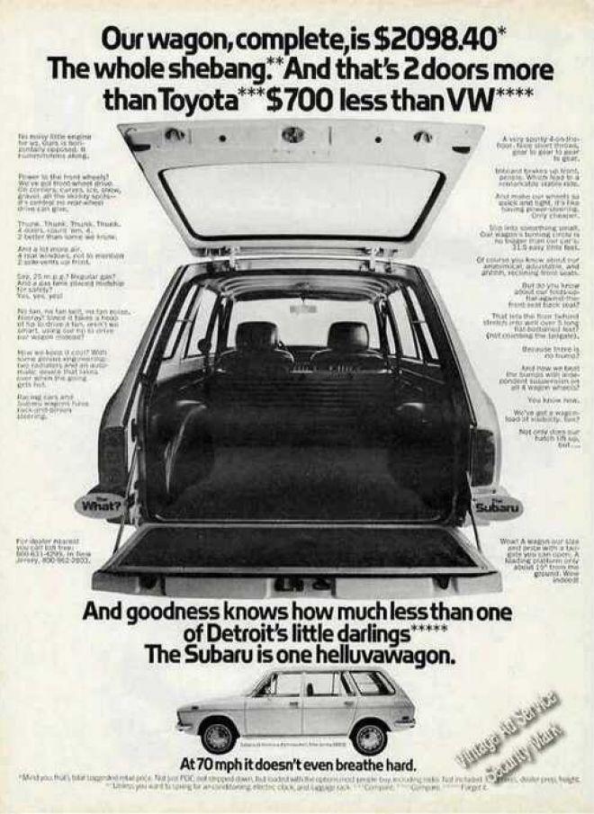 Subaru Station Wagon One Helluvawagon (1971)