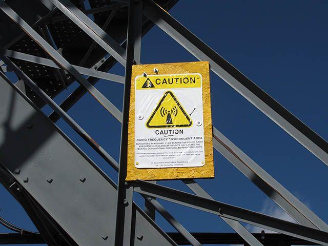 Radio Frequency Warning