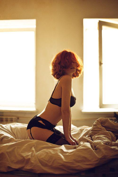 pretty light with red hair #boudoir boudoir