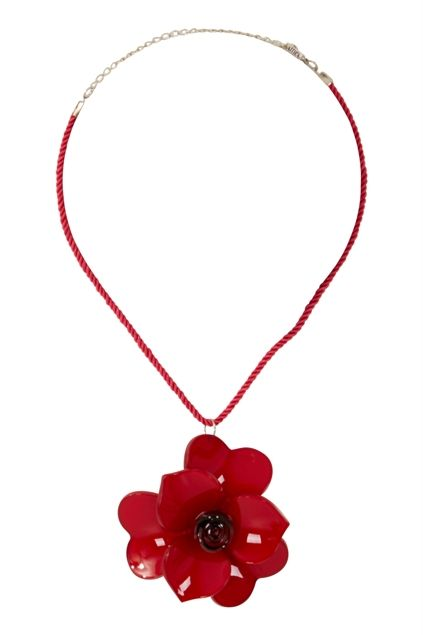 Attica Red Rose Necklace - Womens Necklaces - Birdsnest Online Store