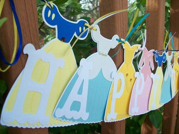 Princess banner - could I make this w/ my Disney Princess cartridge?!!