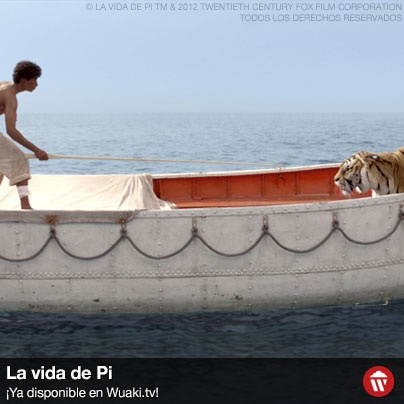 Tras un naufragio en medio del océano Pacífico, el joven hindú Pi, hijo de un guarda de zoo que viajaba de la India a Canadá, se encuentra en un bote salvavidas con un único superviviente, un tigre de bengala con quien labrará una emocionante, increíble e inesperada relación. http://wktv.co/16ymfPS