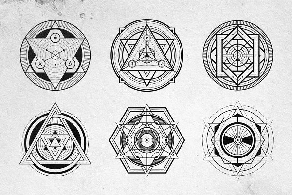 12 Sacred Geometry Vectors - Illustrations