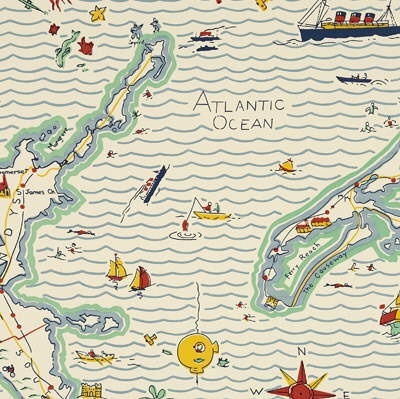 "Adorable children's Bath Paper. Nautical ""out to Sea"" Wallpaper by Ralph Lauren... DO IT!!!!! My gift.....!!!!!!"
