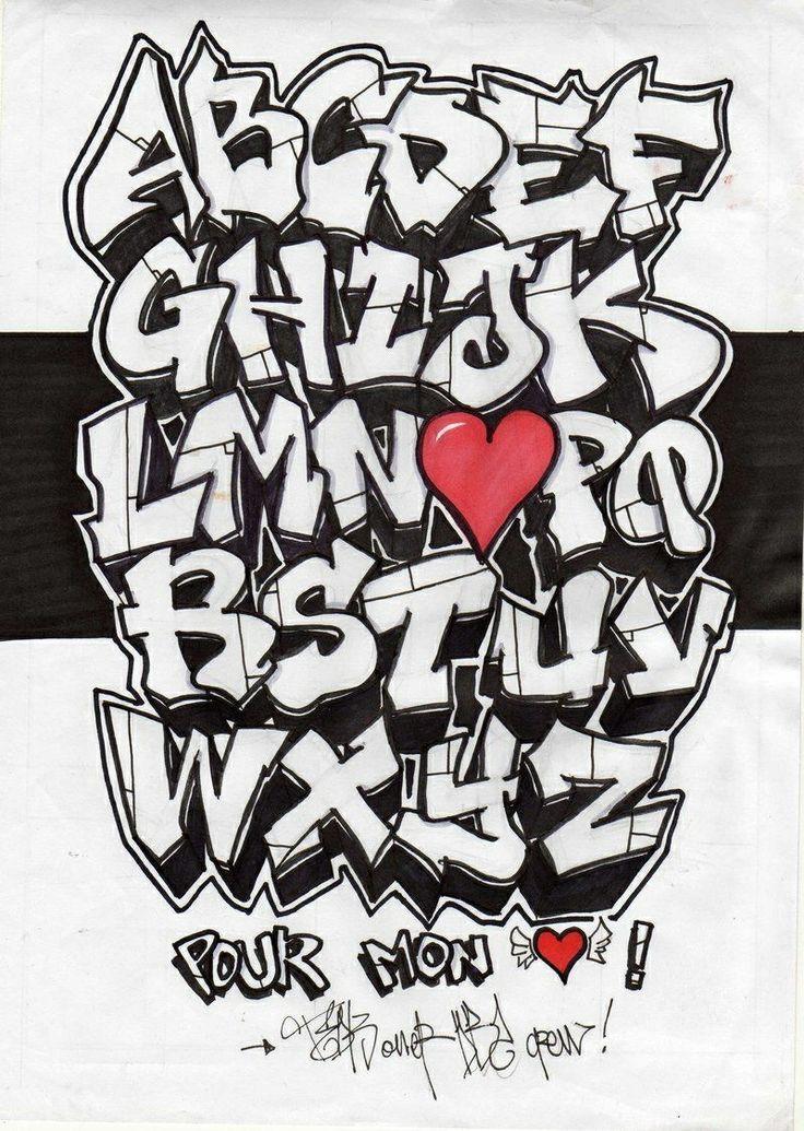 Graffiti alphabet fonts lettering pinterest graffiti - Graffiti alphabe ...