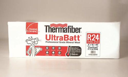 "Thermafiber UltraBatt 6"" x 16"" x 48"" R-24 Mineral Wool Insulation at Menards"