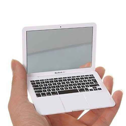 A compact mirror that looks like a laptop.