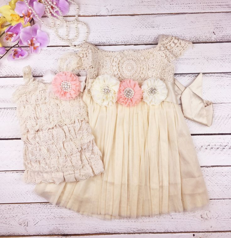 Matching sister dresses - big sister - little sister - coordinating sister outfits - Easter dresses - flower girl