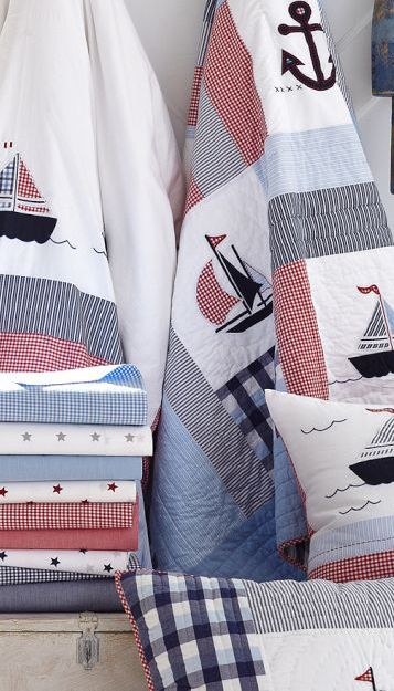 Nautical bed linen for boys.
