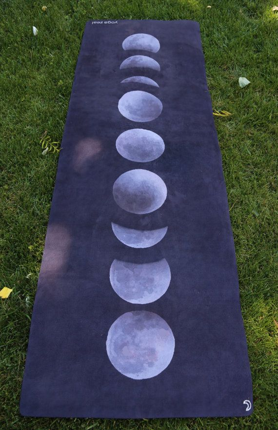 Moon Phases Yoga Mat / Moon Phases / Moon Stages / by YogaZeal