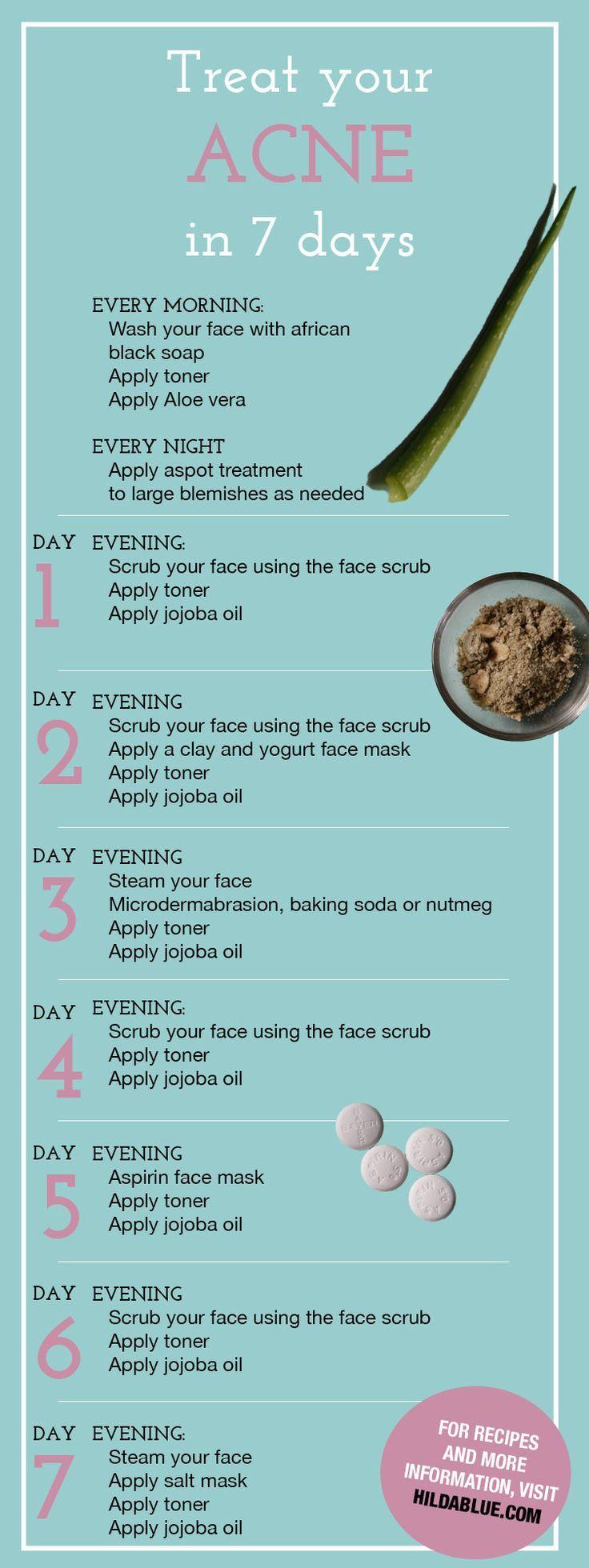 Clear skin treatment.