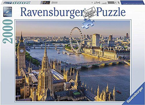Since 1891 we've been making the world's finest puzzles in Ravensburg, Germany. Our attention to detail has made Ravensburger the world's greatest puzzle brand! we use an exclusively developed, extra-thick cardboard combined with our fine, linen-structured paper to create a... more details available at https://perfect-gifts.bestselleroutlets.com/gifts-for-teens/toys-games-gifts-for-teens/product-review-for-ravensburger-sentimental-london-jigsaw-puzzle-2000-piec