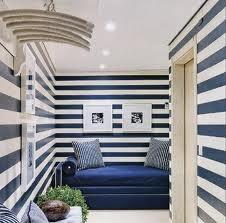 Blue + White Stripes