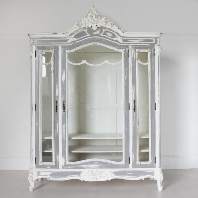 Large Glass Fronted Armoire