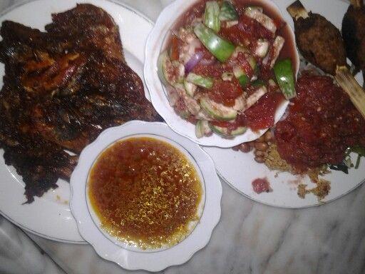 Ayam Taliwang & beberuk terong (Lombok authenthic foo)
