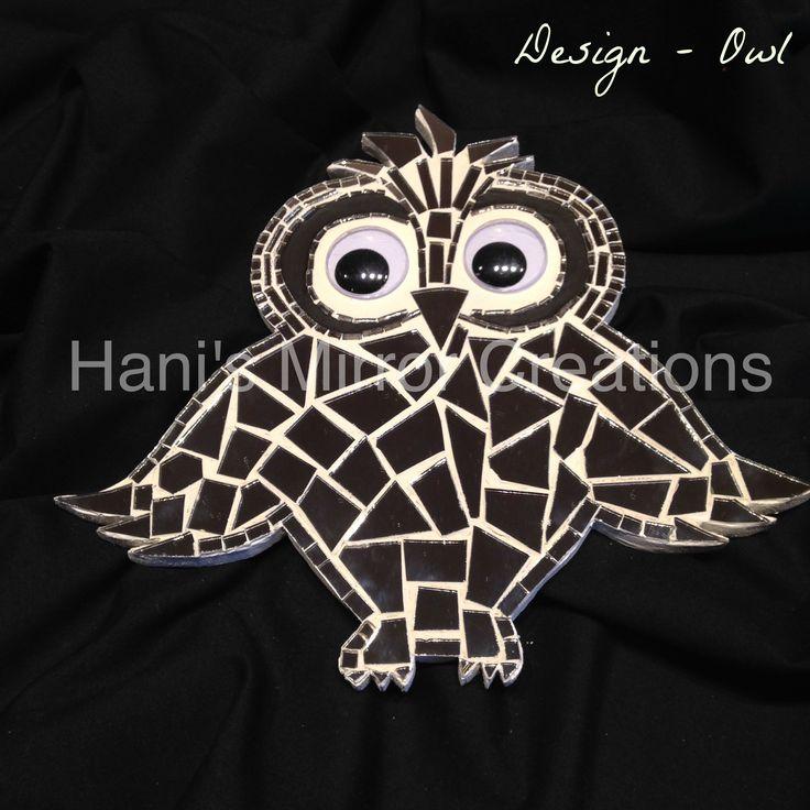 Mosaic Bird - Owl https://www.facebook.com/HanisMirrorCreations