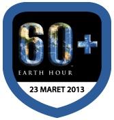 60+ Earth Hour (2013): Ini Aksiku! Mana Aksimu? #EarthHour kolaborAKSI with @EHindonesia