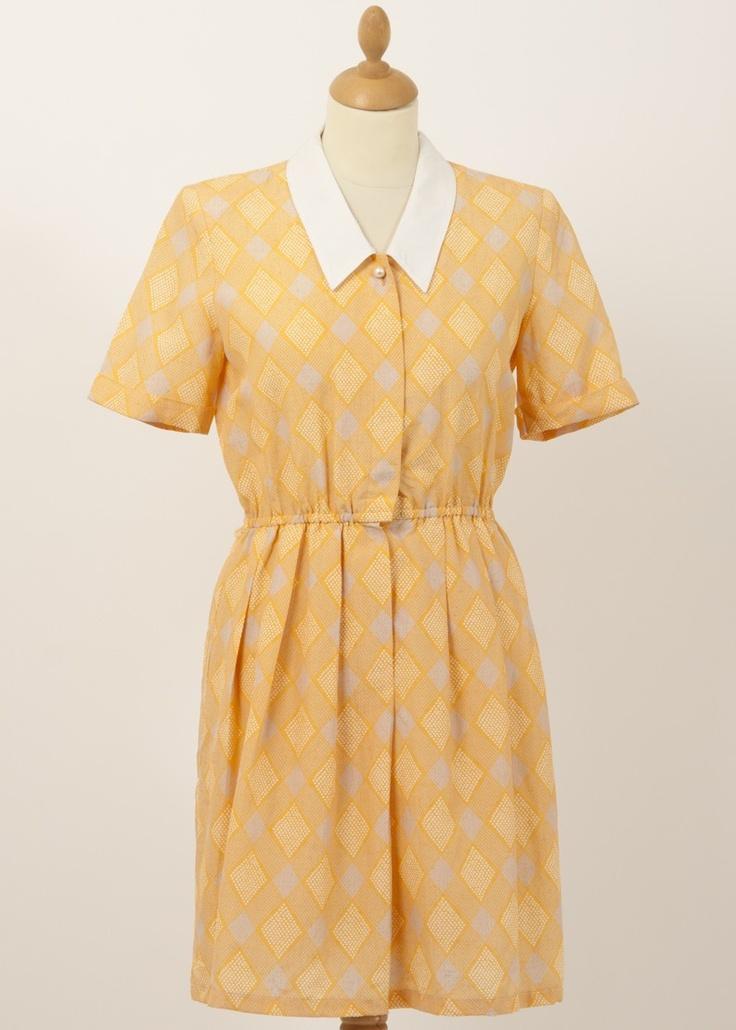 Original vintage orange dress