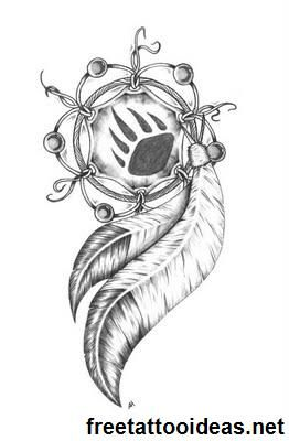 This would be a cute tattoo idea  - http://www.freetattooideas.net/category/native-american-tattoos/